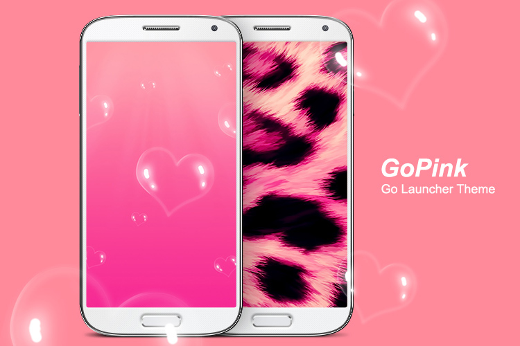 GoPink Android Theme for Go Launcher EX a