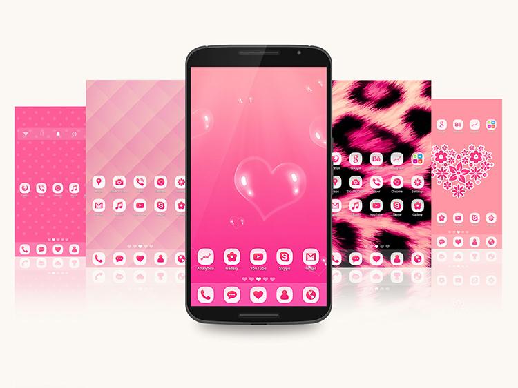 GoPink Android Theme for Go Launcher EX b