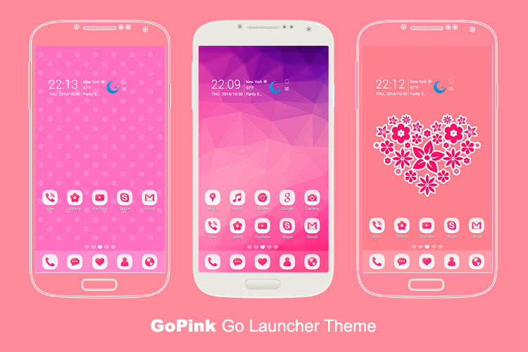 GoPink Android Theme for Go Launcher EX c