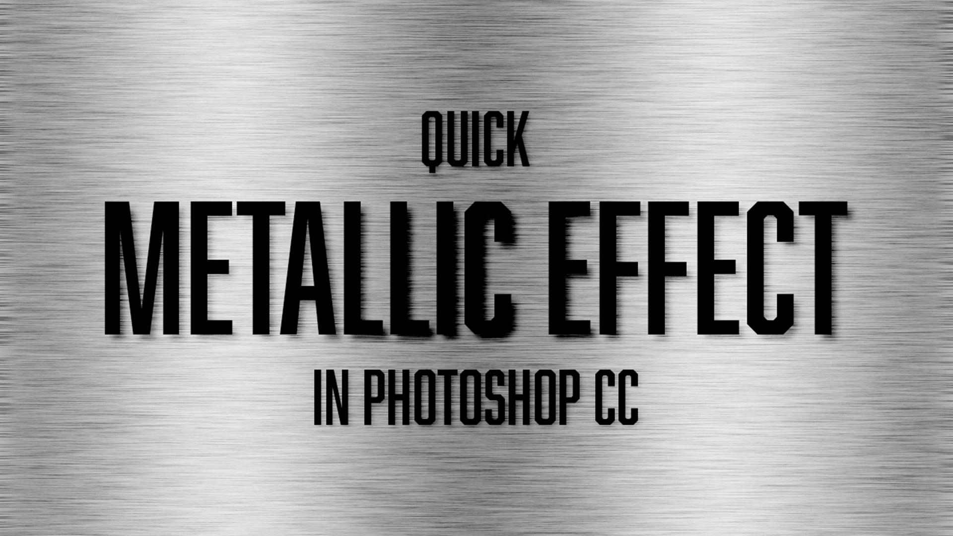 Quick Tutorial: Metallic Effect in Photoshop