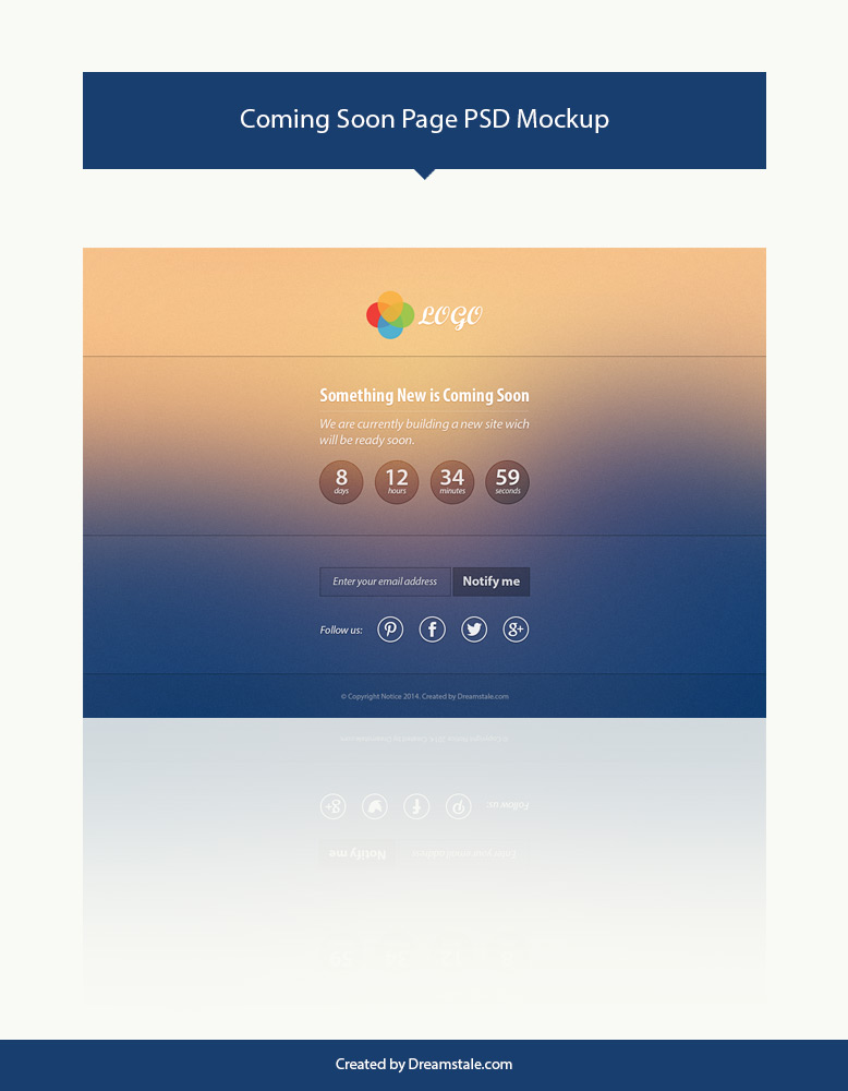 free download coming soon psd page template