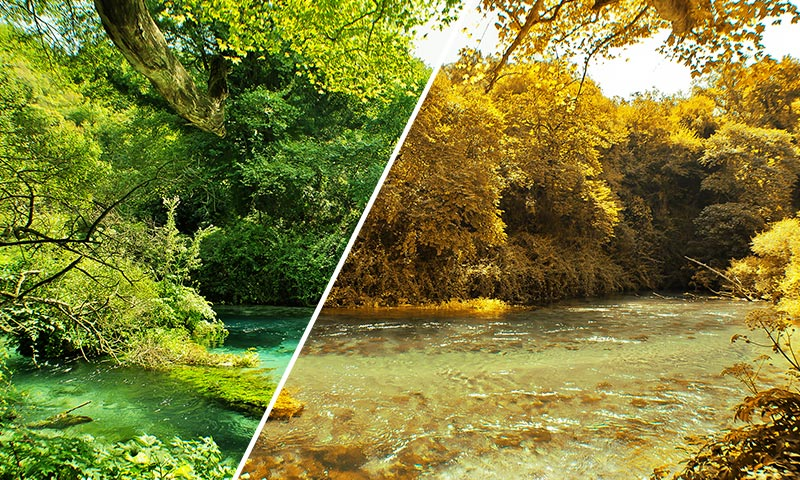 photoshop tutorial transform summer to autumn in photoshop