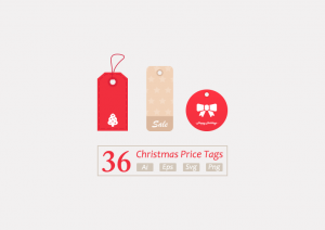 36 premium christmas vector price tags