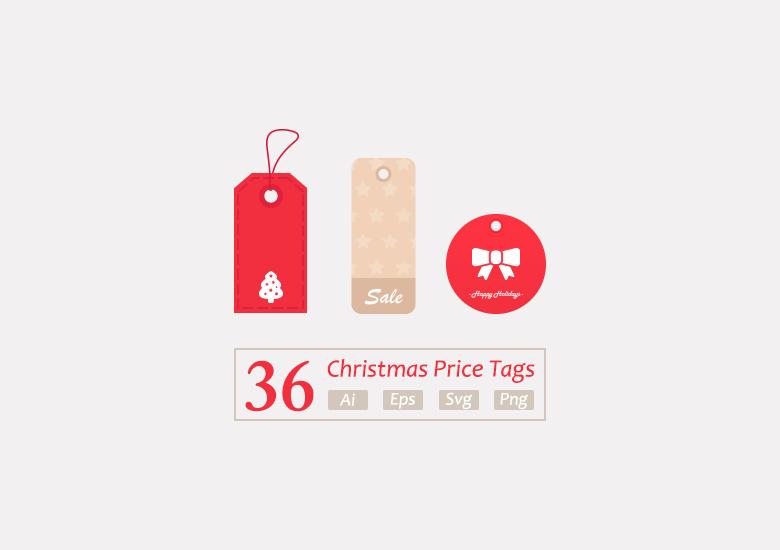 36 premium christmas vector price tags