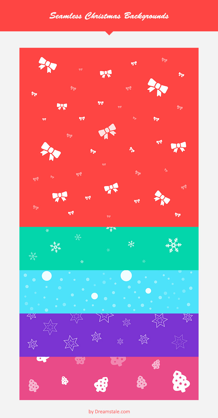 Freebie 5 free seamless pattern christmas backgrounds