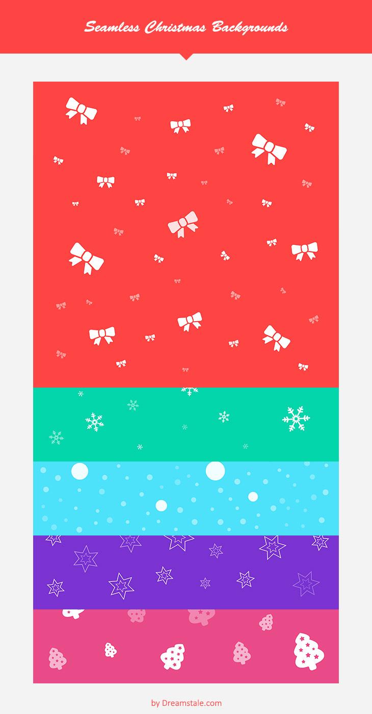 Freebie 5 free seamless pattern christmas backgrounds