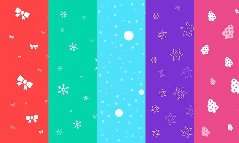 Freebie free seamless christmas backgrounds set