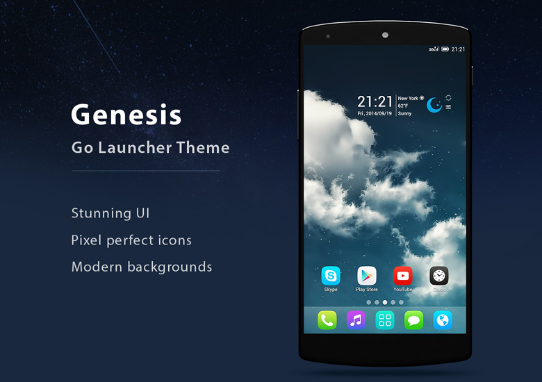 Genesis pro go launcher ex theme 1