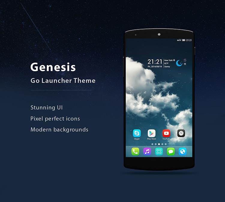Genesis pro go launcher ex theme 2