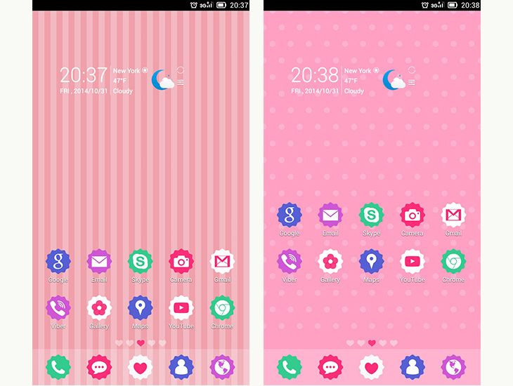 GoCute Android theme for go launcher ex 2