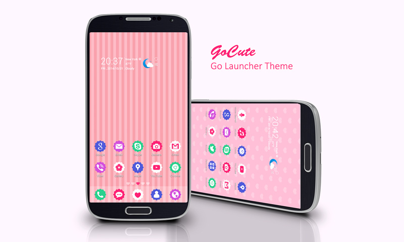 GoCute Android theme for go launcher ex