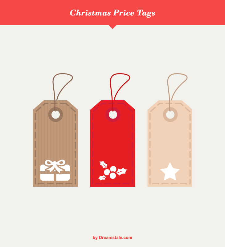 freebie Christmas Vector Flat Price Tags