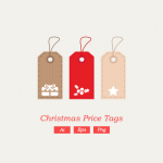 Freebie: Christmas Vector Price Tags
