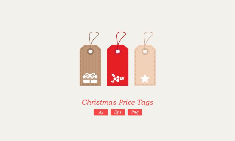freebie Christmas Vector Price Tags