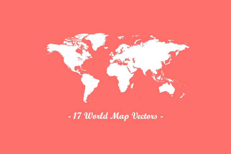 download 17 world map vectors