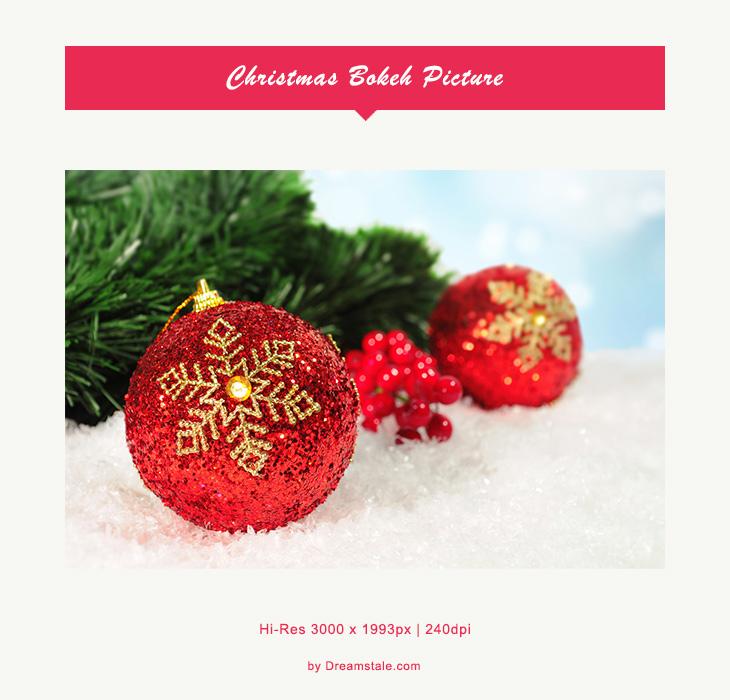Freebie: Christmas Bokeh Picture
