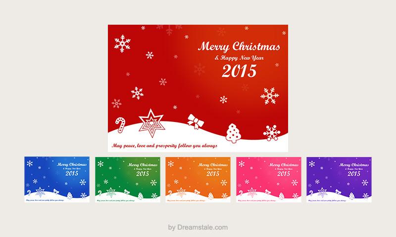 Freebie: Christmas Card Vectors