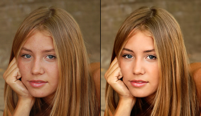 body face retouching featured