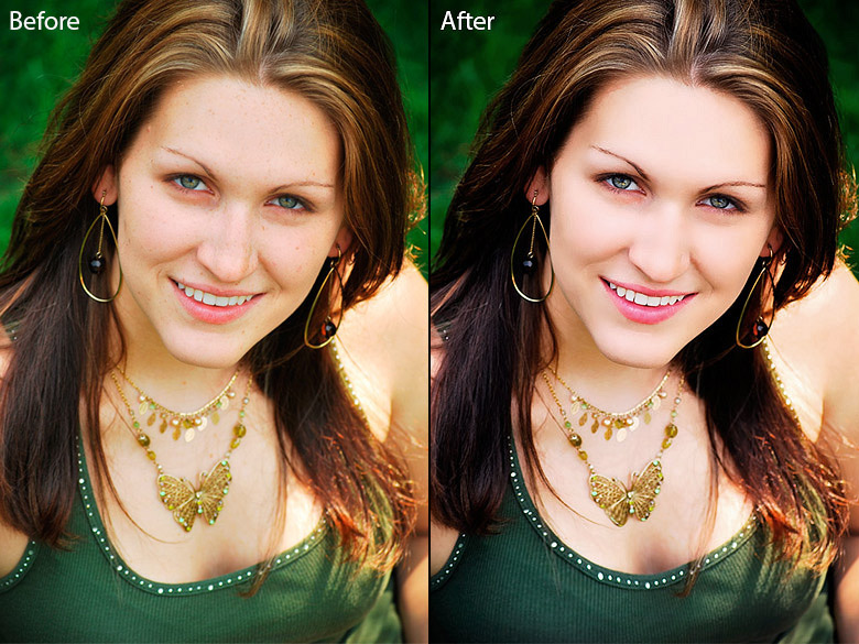 body face retouching  photo 02
