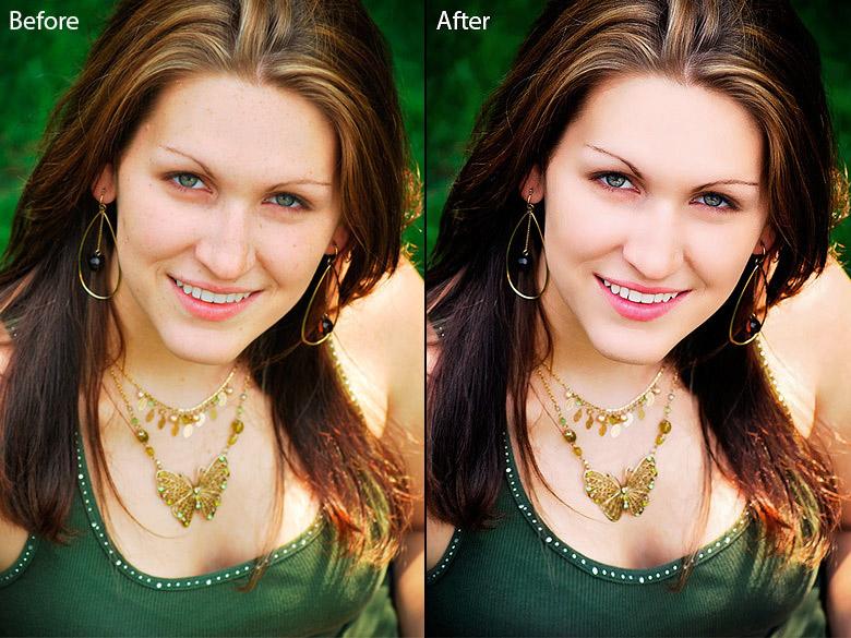 body face retouching  photo 02