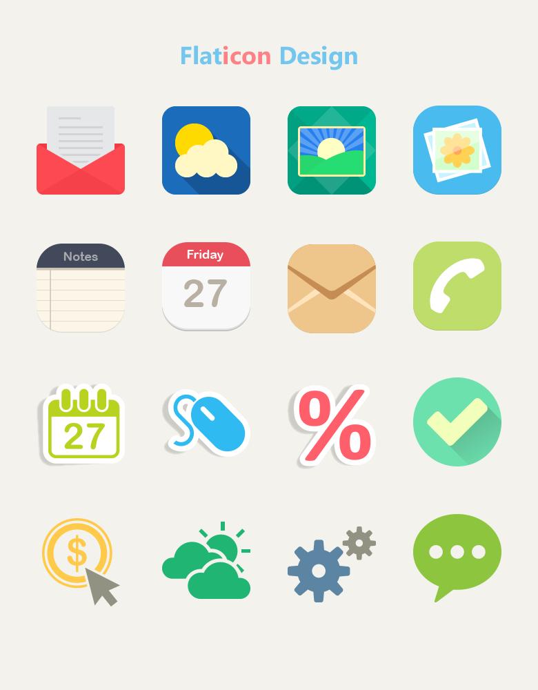 flat icon design preview