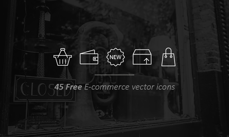 Freebie: 45 Outline E-commerce Icons
