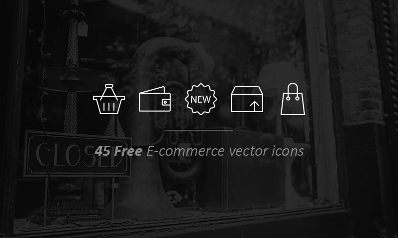 freebie 45 free e-commerce vector icons