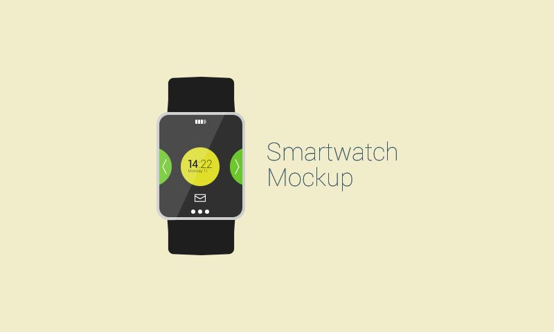 Freebie: Flat Smartwatch Mockup