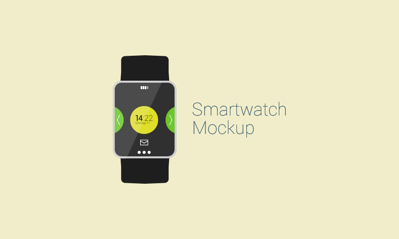 freebie flat Vector smartwatch mockup