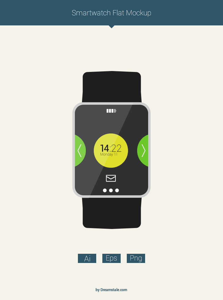 freebie flat smartwatch mockup preview