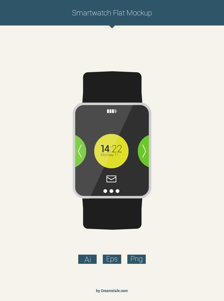 freebie flat smartwatch mockup preview