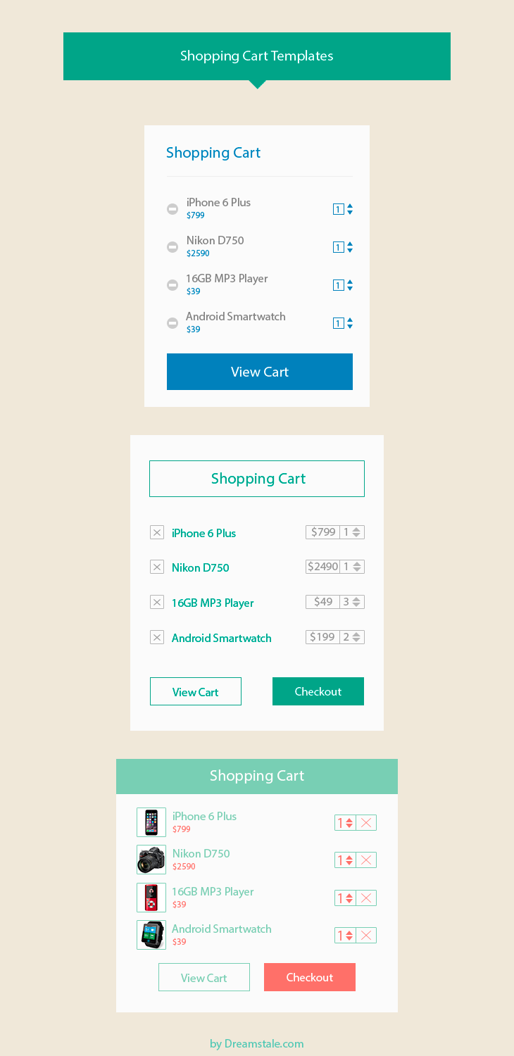 freebie shopping cart design templates preview
