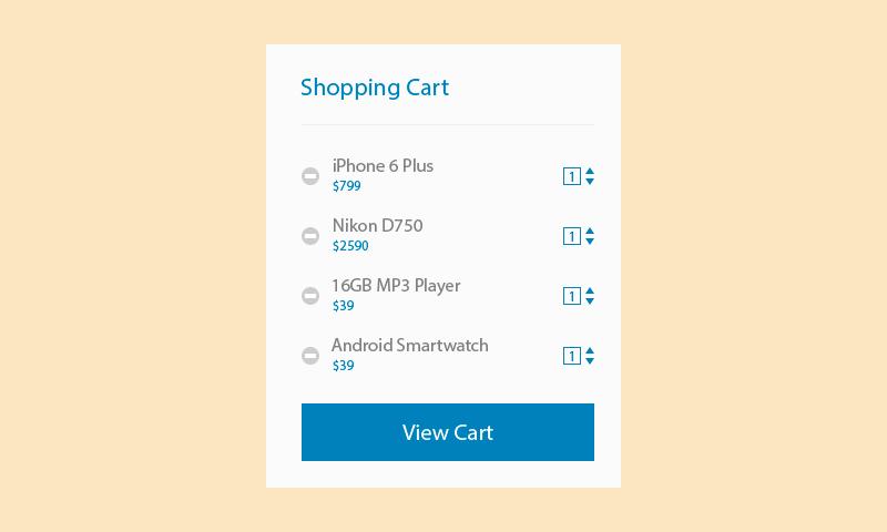 Freebie: Shopping Cart Design Templates