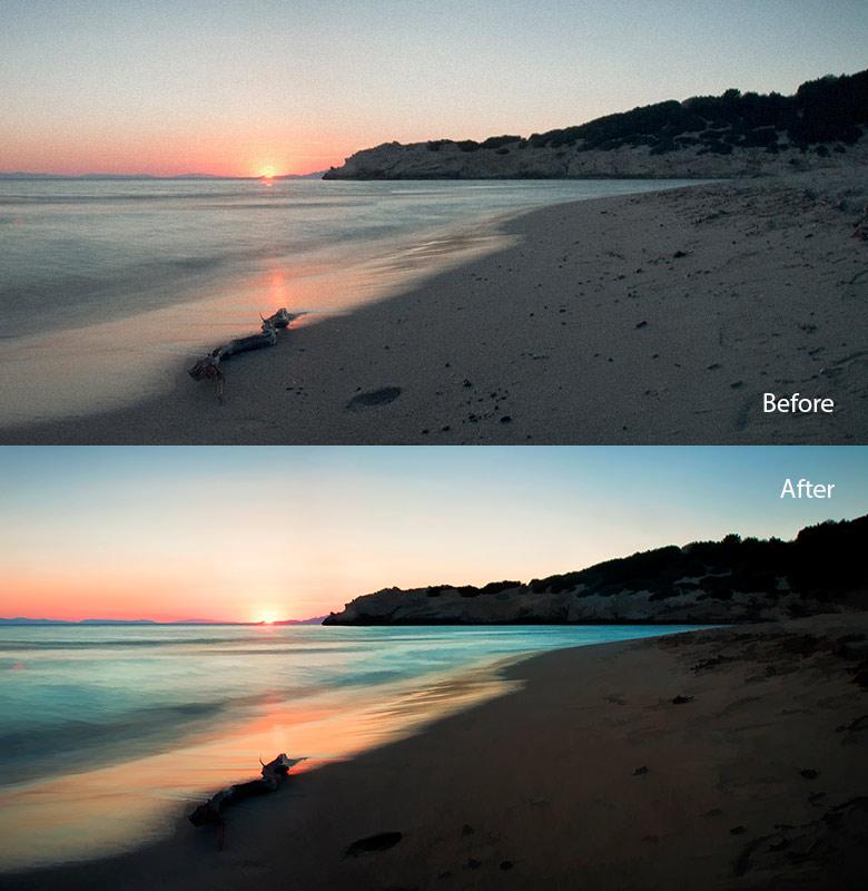 landscape retouch example 2