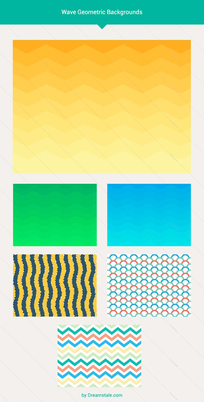 premium vector wave geometric backgrounds large