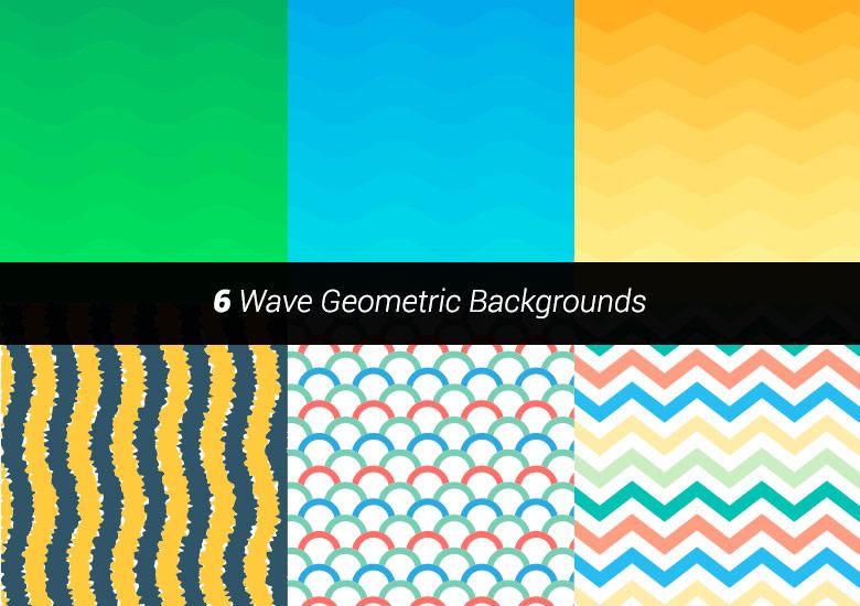 premium vector wave geometric backgrounds