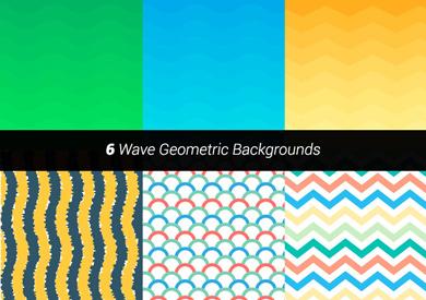 2-premium-vector-wave-geometric-backgrounds
