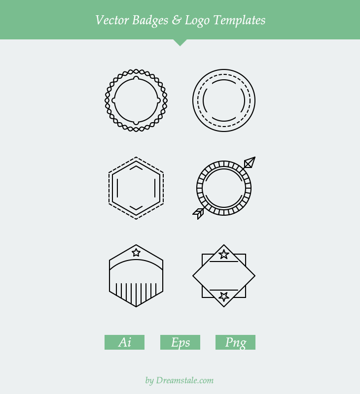 free-6-vector-outline-badges-logo-templates
