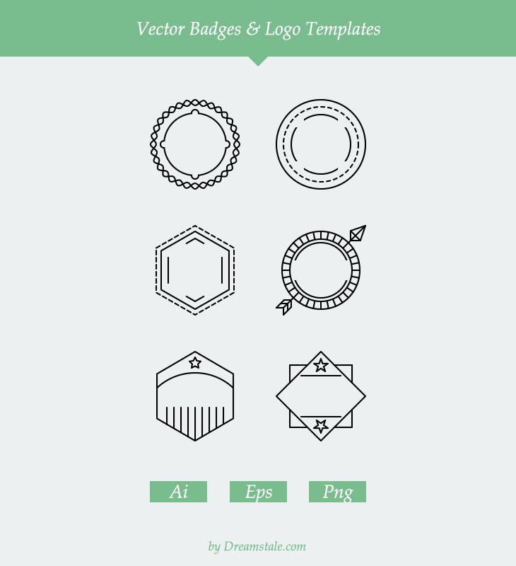 free-6-vector-outline-badges-logo-templates