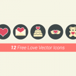 Freebie: 12 Vector Love Icons