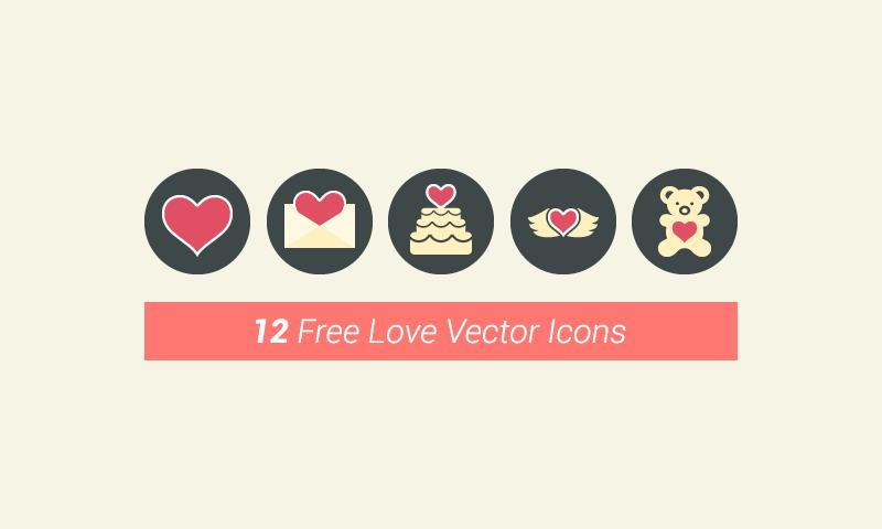 freebie 12 vector love icons