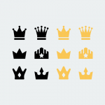 Freebie: Flat Vector Crown Icons