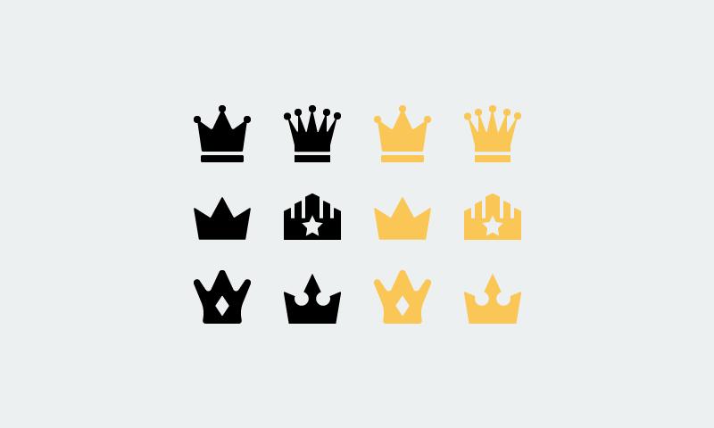 freebie-Crown-vector-icons-set