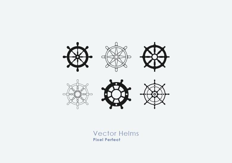 Nautical-Ship-Wheel-Vectors