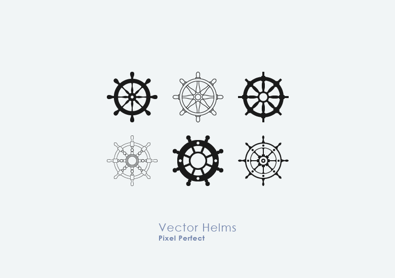 Nautical-Ship-Wheel-Vectors