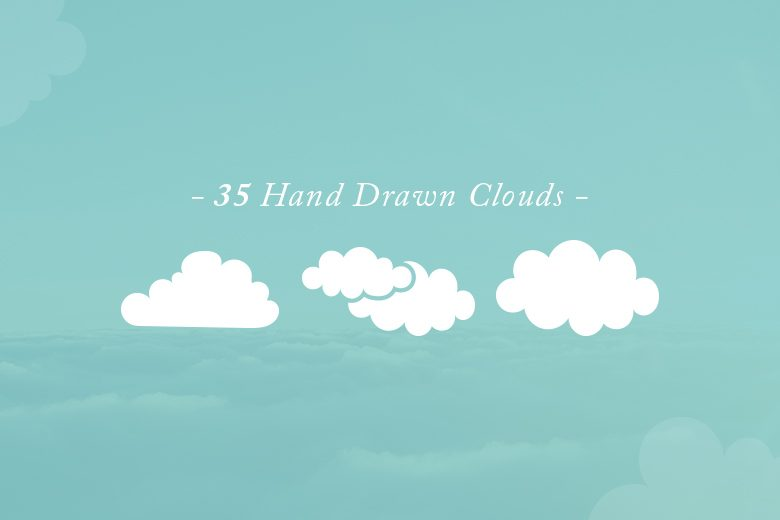 35-hand-drawn-vector-clouds