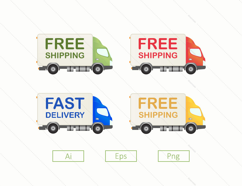 4-free-shipping-truck-delivery-vectors