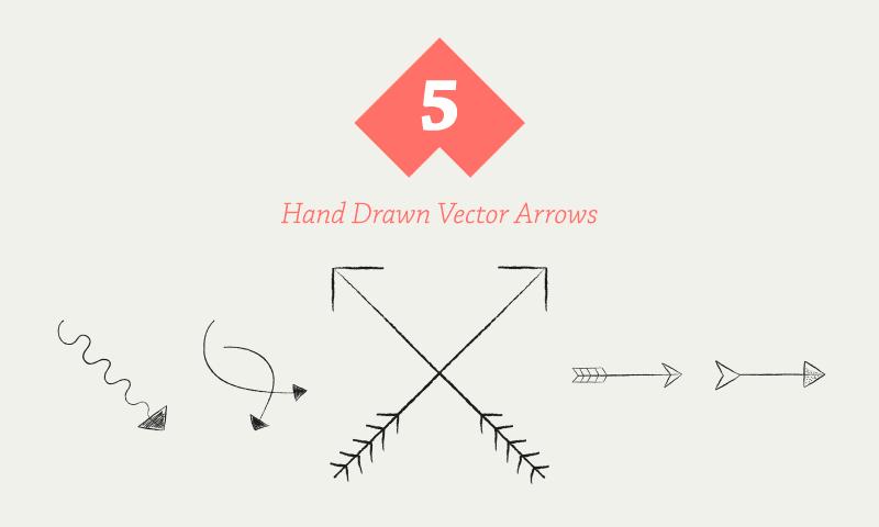Freebie: Hand Drawn Vector Arrows