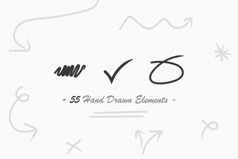 55-hand-drawn-vector-elements-arrows