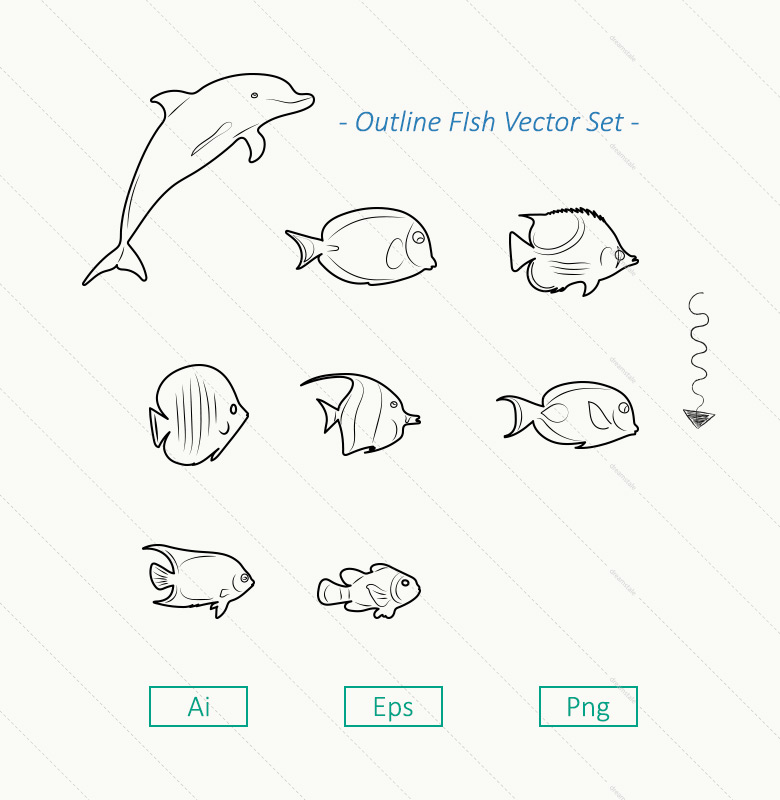 8-outline-sea-fish-vector-set-l